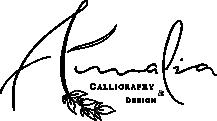 Amalia Calligraphy Logo